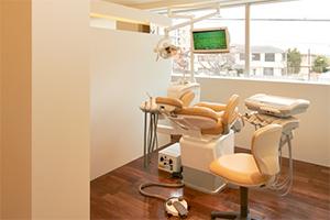 半個室で開放感のある診療室
